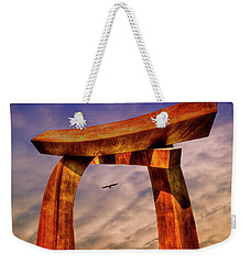 Weekender Tote Bag featuring the photograph Pi In The Sky by Paul Wear
