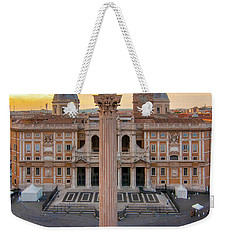 Weekender Tote Bag featuring the photograph Piazza Santa Maria Maggiore by Fabrizio Troiani
