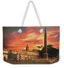 Piazza Del Popolo Rome Weekender Tote Bag