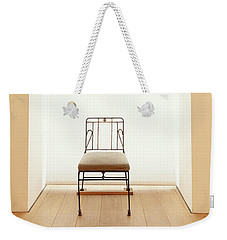 Weekender Tote Bag featuring the photograph Picasso's Museum Chair by Craig J Satterlee