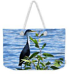 Pied Heron Tree Weekender Tote Bag