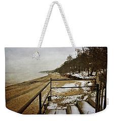 Pier Cove Beach With Steps Weekender Tote Bag