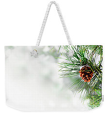 Pine Branch Under Snow Weekender Tote Bag