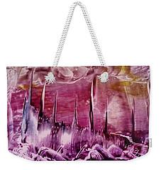 Pink Abstract Castles Weekender Tote Bag