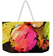 Pink And Green Apples With The Yellow Banana Weekender Tote Bag