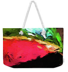 Pink And Green Watermelon Weekender Tote Bag
