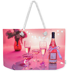 Weekender Tote Bag featuring the photograph Pink Champagne by Top Wallpapers