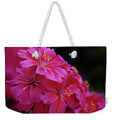 Pink Floral Weekender Tote Bag