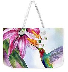 Pink Flower For Hummingbird Weekender Tote Bag