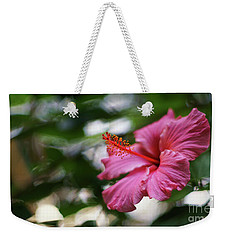Weekender Tote Bag featuring the photograph Pink Hibiscus Flower by Pablo Avanzini
