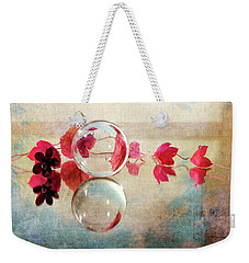 Weekender Tote Bag featuring the photograph Pink Line by Randi Grace Nilsberg