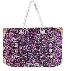 Pink Mandala Weekender Tote Bag