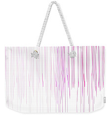 Weekender Tote Bag featuring the mixed media Pinked by Jessica Eli