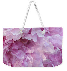 Weekender Tote Bag featuring the digital art Pinkity by Cindy Greenstein