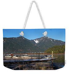 Pitt Lake Winterimpression Weekender Tote Bag