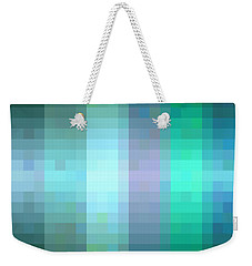 Weekender Tote Bag featuring the digital art Pixelated Paradise Fusion by Rachel Hannah
