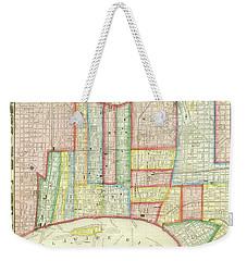 Plan Of Philadelphia, 1860 Weekender Tote Bag