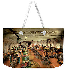 Weekender Tote Bag featuring the photograph Plane - Factory - Aircraft Repair 1919 by Mike Savad