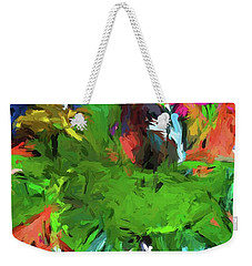 Plant With The Green And Turquoise Leaves Weekender Tote Bag