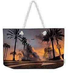 Weekender Tote Bag featuring the photograph Playa Vista by John Rodrigues