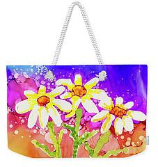 Playful Daisies Weekender Tote Bag