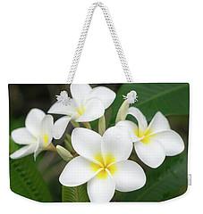 Pleasing Plumeria Weekender Tote Bag