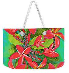 Plumeria Sunburst Weekender Tote Bag