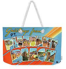 Point Pleasant Beach Greetings Weekender Tote Bag