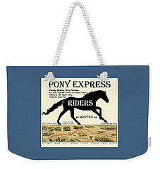 Pony Express Want Ad Weekender Tote Bag