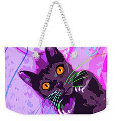 Pop Cat Angel Weekender Tote Bag