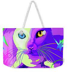 pOp Cat Cotton Weekender Tote Bag