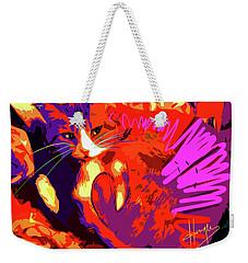 Pop Cat Tiger Weekender Tote Bag
