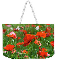 Poppies In The Field Weekender Tote Bag
