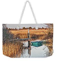 Poquoson Marsh Boat Weekender Tote Bag