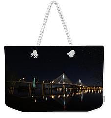 Port Mann Bridge With Blood Moon Weekender Tote Bag