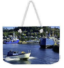 Weekender Tote Bag featuring the photograph Port Of Astoria Oregon by Susan Parish