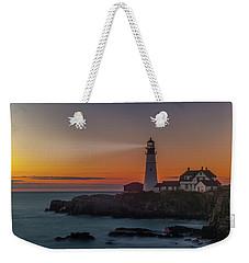 Weekender Tote Bag featuring the photograph Portland Headlight by Rick Hartigan