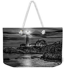 Weekender Tote Bag featuring the photograph Portland Lighthouse 7363 by Donald Brown