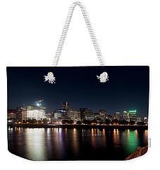 Weekender Tote Bag featuring the photograph Portland Oregon Skyline 102118 by Rospotte Photography