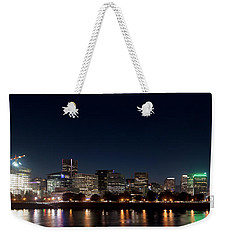Weekender Tote Bag featuring the photograph Portland Oregon Skyline V2 by Rospotte Photography