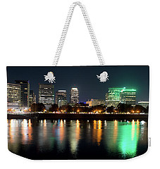 Weekender Tote Bag featuring the photograph Portland Oregon Skyline V3 by Rospotte Photography