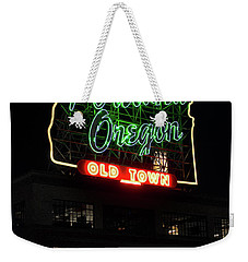 Weekender Tote Bag featuring the photograph Portland Oregon White Stag 117 by Rospotte Photography