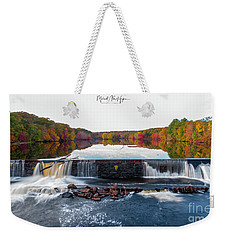 Weekender Tote Bag featuring the photograph Power Of The Shetucket by Michael Hughes