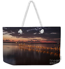 Pre-dawn Pier Glow Weekender Tote Bag