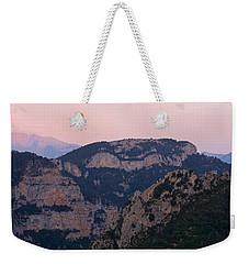Weekender Tote Bag featuring the photograph Pre Pyrenees Sunset by Stephen Taylor