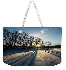 Pretty Winter Sun Rise Scene Weekender Tote Bag