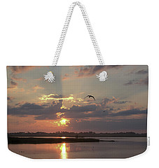Weekender Tote Bag featuring the photograph Prime Hook Sunrise 1 by Buddy Scott