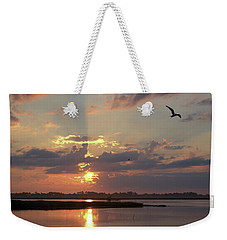 Weekender Tote Bag featuring the photograph Prime Hook Sunrise 2 by Buddy Scott
