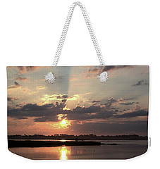 Weekender Tote Bag featuring the photograph Prime Hook Sunrise 3 by Buddy Scott