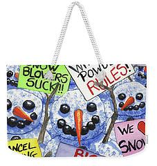Pro Life Rally Weekender Tote Bag